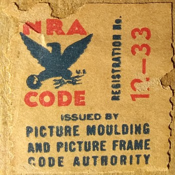 NRA Code Stamp... For a Picture Frame?  - Stamps