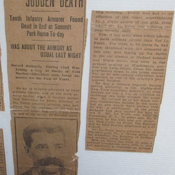 Death of Union Soldier, LaPoint of 81st NYV regiment. - Military and Wartime