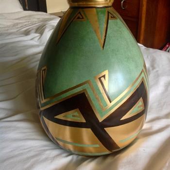 Art Deco Dinanderie vase by Offner - Art Deco
