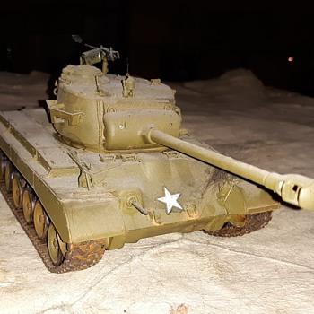 Happy Tanksgiving CW Tamiya M26 Pershing Tank 1/35 Scale - Military and Wartime