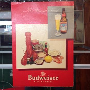 Budweiser menu cover - Breweriana