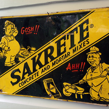 1964 Sakrete Cement Tin Sign - Advertising