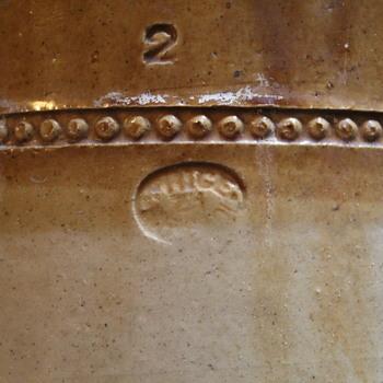Large Bristol stoneware crock - China and Dinnerware
