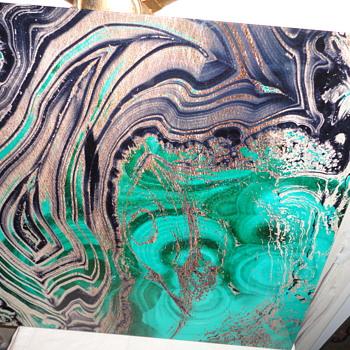 Abstract Art Glass Panel - Fine Art
