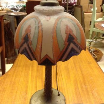 Unusual Handel Table lamp?