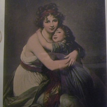 """Print """"Le Brun & Daughter"""" signed?? - Posters and Prints"""