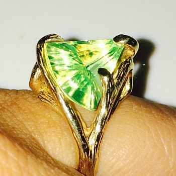 Vintage Lemon Citrine Organic 14k Mounting Ring
