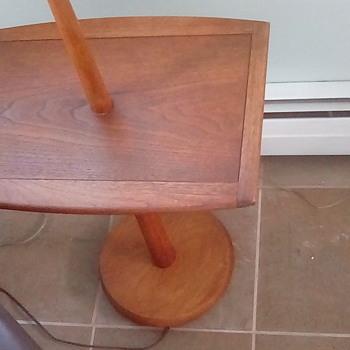 Danish Teak floor lamp with table - Furniture