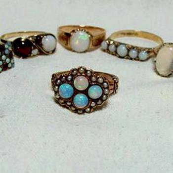 Victorian Opal Rings - Fine Jewelry