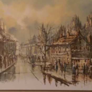 Late 1800's oil on canvas painting with signature of L.Alias