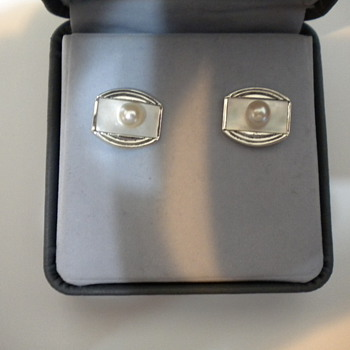 K. Mikimoto sterling silver cufflinks