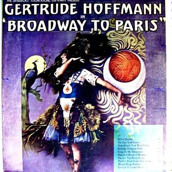 WHY I COLLECT SHEET MUSIC! 1 1912 HUM-DINGER. GERTRUDE  HOFFMAN, BROADWAY STAR - Music Memorabilia
