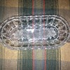 Clear oval dish