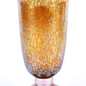 Loetz Deco Candia Papillon Vase c. 1920 - Art Glass