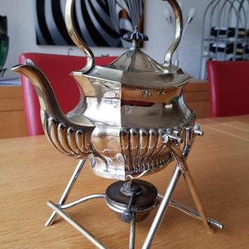 Silver-plated kettle; maker unknown - Kitchen