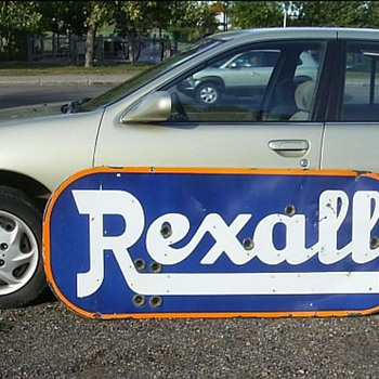 Old very large Rexall Sign