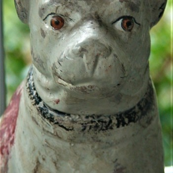Antique Pennsylvania Plaster Dog - Animals