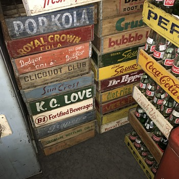Old wooden soda cases  - Advertising