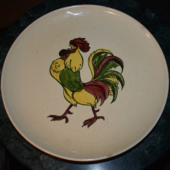 Rooster Plate - Made in California - Pottery