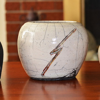 Three Raku Glazed Pots - Pottery