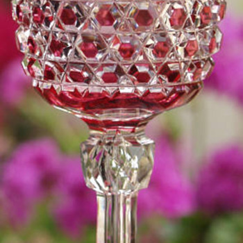 Wonderful cranberry to clear stem - Glassware
