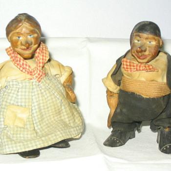 Primitive Carved Wooden Dolls