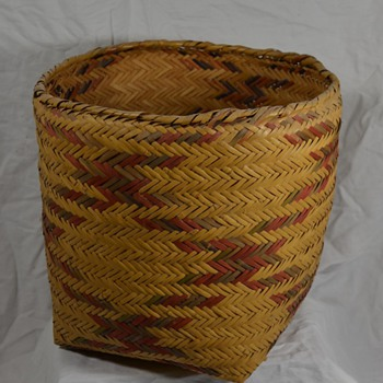 Large Native Storage Basket with Authentic Designs - Native American