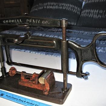 Goodell-Pratt Hacksaw Stand (circa 1899) - Tools and Hardware