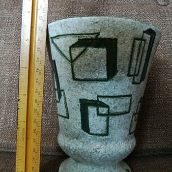 Geometrically funky vase - Pottery