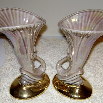 Vintage Pacific Pottery Lily Vases Circa 1930's - Art Deco
