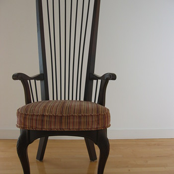 Carved wood highback chairs - Furniture