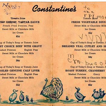 Childrens menu - Paper