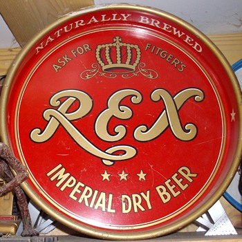 Fitgers Rex beer tray. - Breweriana