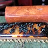 Small Gentleman's Brush - Inscribed and dated Tortoise shell