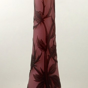 "Loetz ""Richard"" Cameo glass vase, Camelienrot aussen Braun, PN II-8372, ca. 1920s - Art Glass"