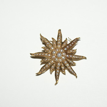 Antique 14k Starburst Brooch/Pendant  - Fine Jewelry