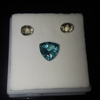 Color Change Diaspore and Blue Apatite - Fine Jewelry