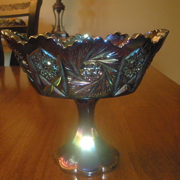 Fenton Carnival Glass compote.....What pattern is this???