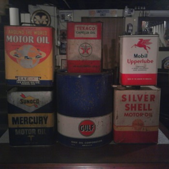 Oil Can Family Photo - Petroliana