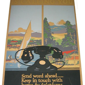Vacationland 1930's Deco Travel Poster with WE 202 Phone