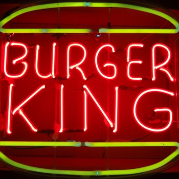 BURGER KING NEON SIGN - Signs