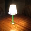 Uranium Glass Lamp