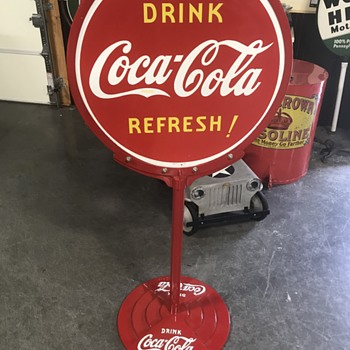 Coca Cola lollipop sign 1939  - Coca-Cola