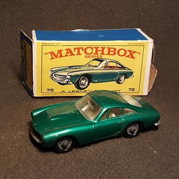 Much Monied Materialistic Matchbox Monday MB 75 Ferrari Berlinetta IN E Box - Model Cars
