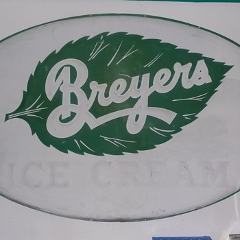 Breyers Ice Cream Sign