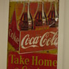 Finished 5'x8' 3 panel tin Coca-cola