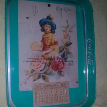 need  information 1891 commemorative coca tray tray  - Coca-Cola