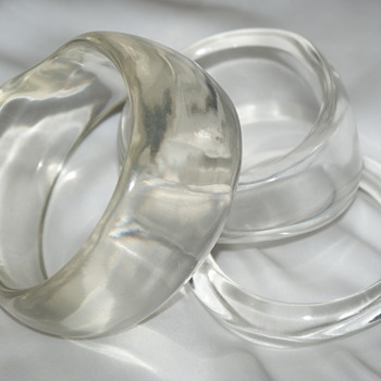 More Lucite Bangles - Costume Jewelry