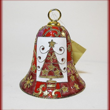 Cloisonne Christmas Bell ( with tag ) - Christmas