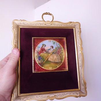 IMHOF beautifully hand painted enameled clock   - Clocks